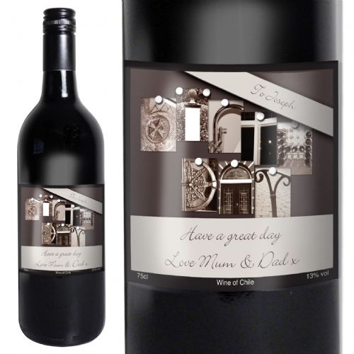 Personalised AffectionArt Birthday Red Wine